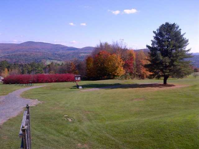 A fall view from Blush Hill Country Club