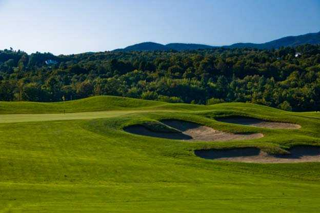 A view of hole #1 at Country Club of Vermont