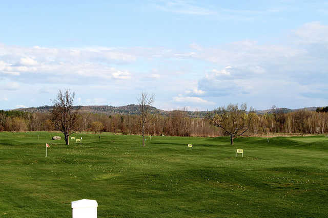 A view of the driving range at Catamount Club