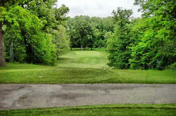 A view of green #3 at Kenyon Country Club