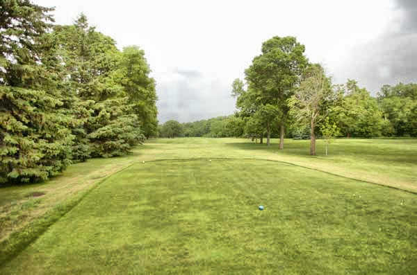 A view from the 5th tee at Kenyon Country Club