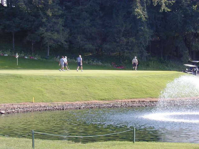 A view over the water from Le Sueur Country Club