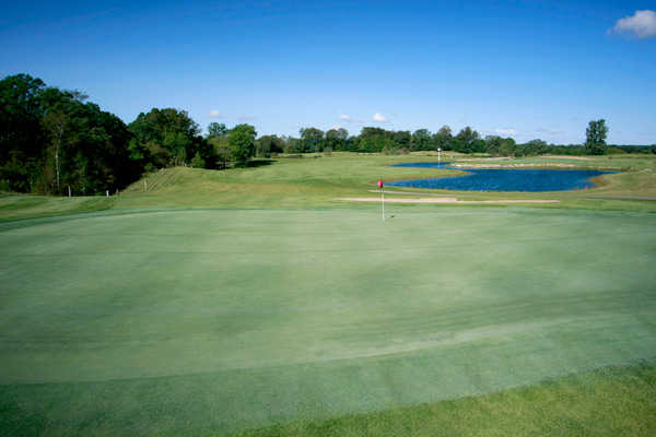 A view of green #13 at Long Prairie Country Club
