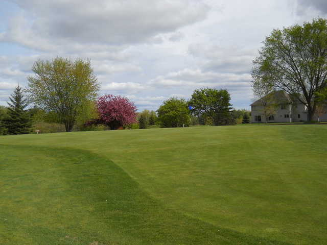 A view of green #4 at Pine City Country Club