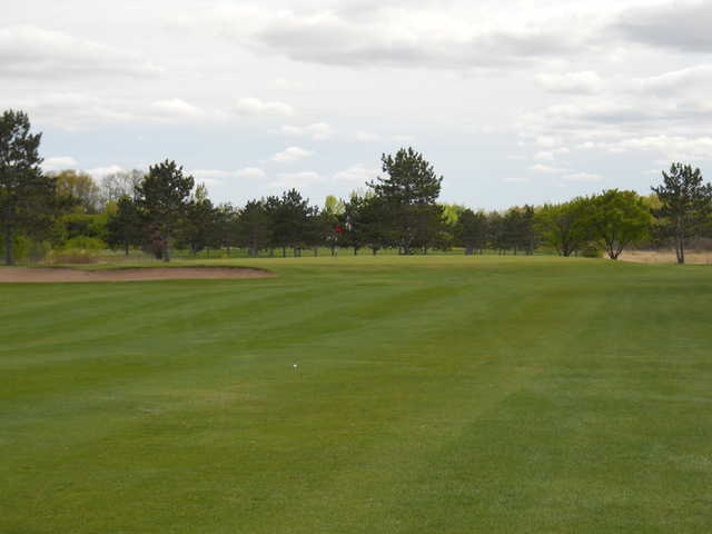 A view of hole #1 at Pine City Country Club