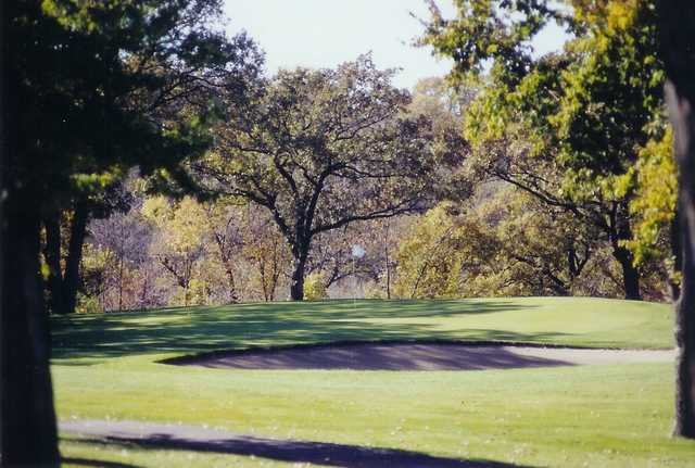 A view of a green at Redwood Falls Golf Club