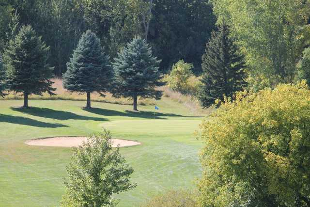 A view of a green at Northern Hills Golf Club