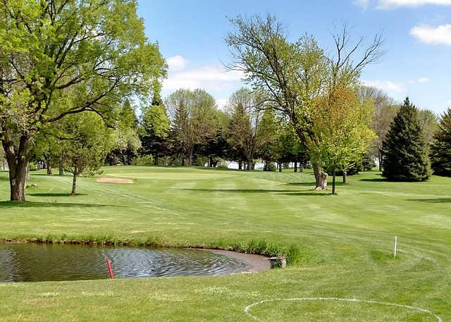 A view over a pond at Sleepy Eye Golf Club