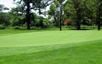 A view of a green at Root River Country Club