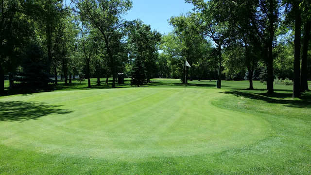 A view of a hole at Riverview Greens