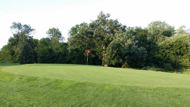 A view of a green at Riverview Greens