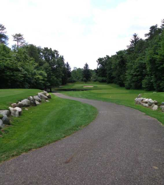 View of a green from tee at Heritage Glen Golf Club