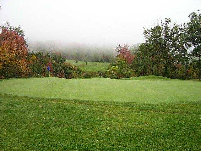 A view of a green at Ely Park Golf Course