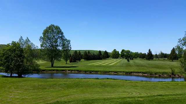 A view of fairway #1 at Ischua Valley Country Club