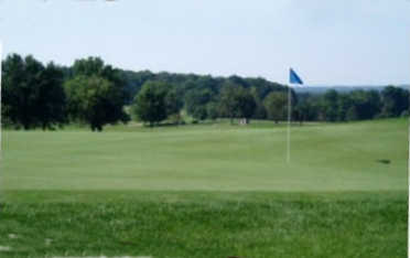 A view o a green at Stony Ford Golf Course