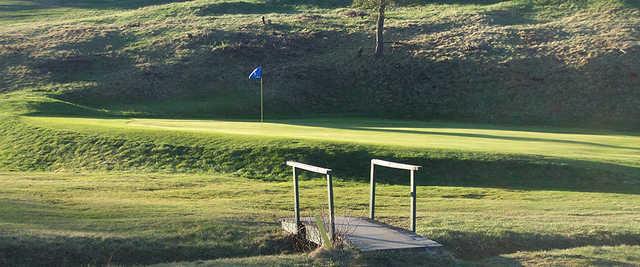 A view of a green at Saranac Lake Golf Club