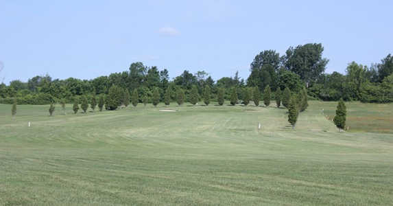 A view of a fairway at Cedar View Golf Course