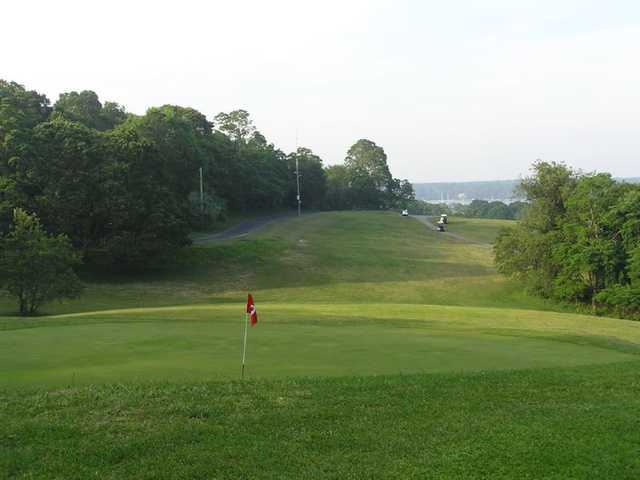 A view of hole #9 at Shelter Island Country Club