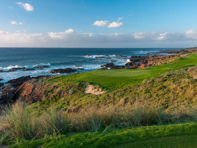 A view of the 16th hole at Cape Wickham Links