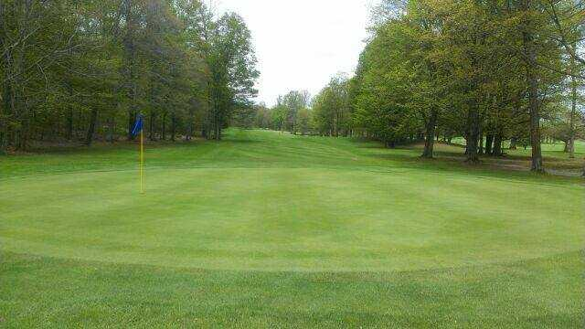 A view of hole #11 at Turin Highlands Golf Course