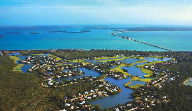 Aerial view from The Dunes Golf & Tennis Club