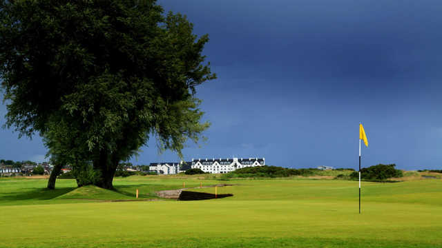 A view of hole #5 at Burnside Course from Carnoustie Golf Links