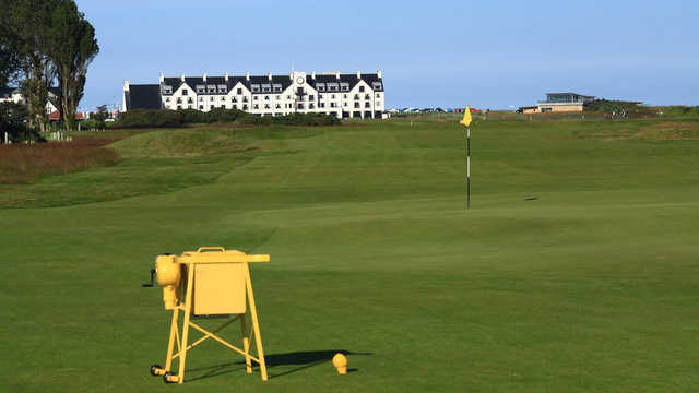 A view of the 2nd green at Burnside Course from Carnoustie Golf Links