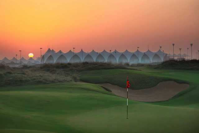 A view of a hole at Yas Links Golf Course (Kevin Murray)