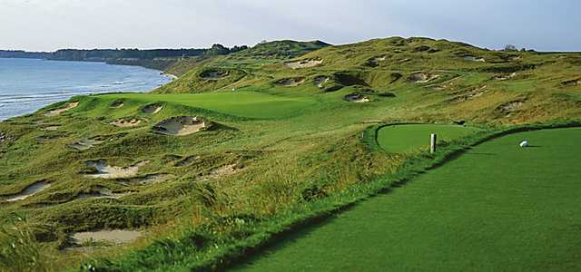 A view from tee #3 at Straits Golf Course from Whistling Straits