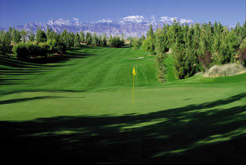 A view of hole #7 at Shadow Creek Golf Course