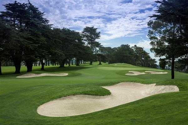 A view of hole #1 from Ocean at Olympic Club