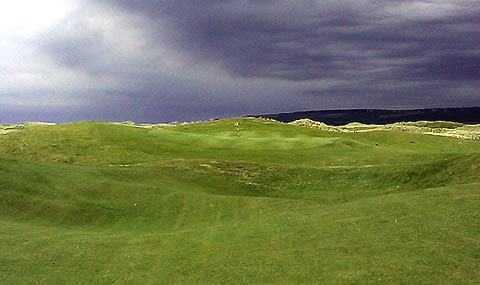 A view of a green at Machrihanish Golf Club