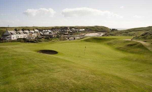A view of green #3 at Championship Course from Cruden Bay Golf Club