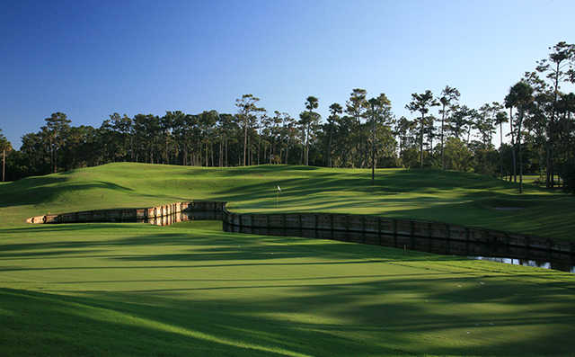 A view the 4th green at THE PLAYERS Stadium Course from TPC Sawgrass