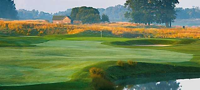 A view of hole #1 at Meadow Valleys from Blackwolf Run Golf Course