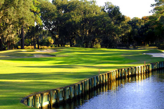 A view of a fairway from Ocean at Sea Pines Resort