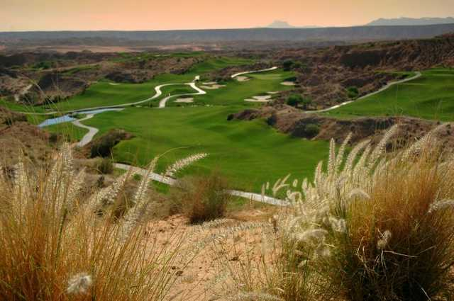 A view of hole #6 at Wolf Creek Golf Club