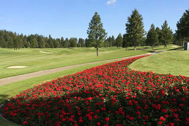 A sunny day view from Coeur D'Alene Resort Golf Course