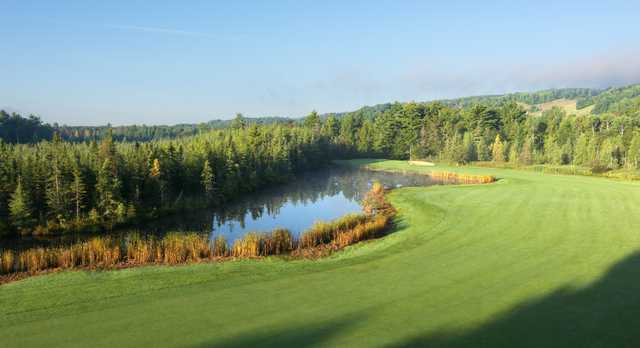 A view of hole #5 from Heather at Boyne Highlands Resort