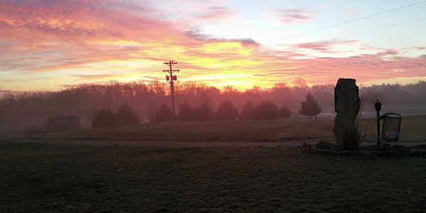 Sunrise view from Cedar Crest Golf Club