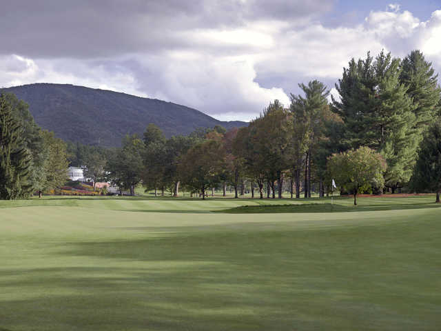 View of the 1st green from the Old White Course at Greenbrier