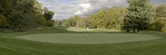 View of the 13th green on the Old White Course at Greenbrier