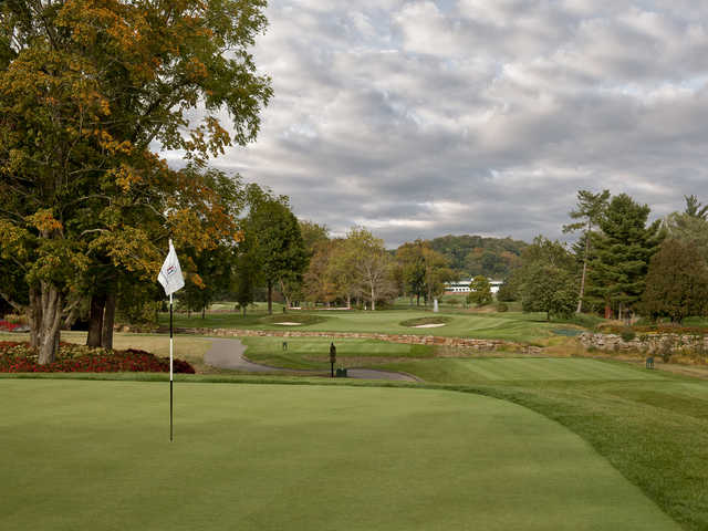 View of the 15th green on the Old White Course at Greenbrier
