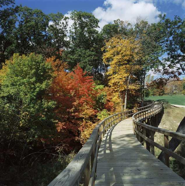 Bridge on TPC Deere Run's 15th hole
