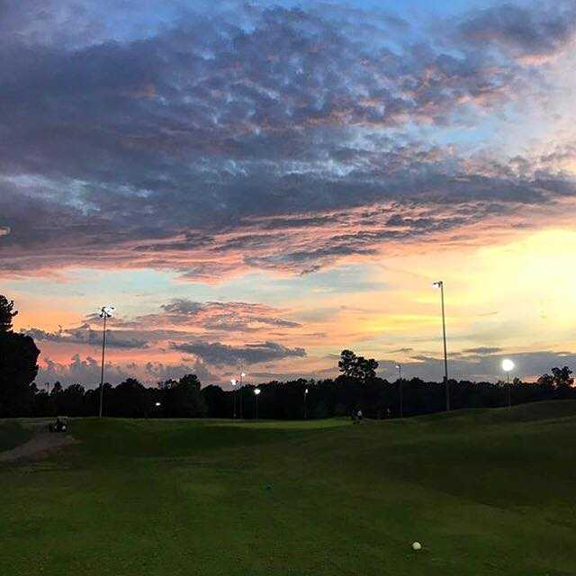 A view from a tee at Knight's Play Golf Center