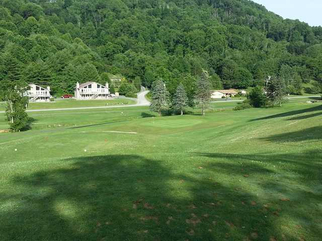 A view of hole #6 at Willow Creek Golf Course