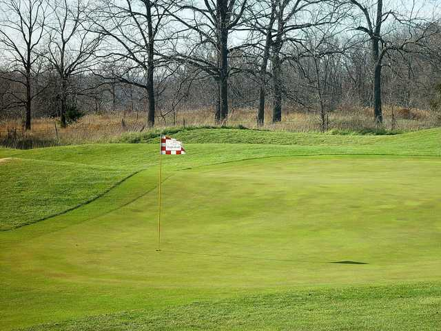 A view of a hole at Eagle Knoll Golf Club