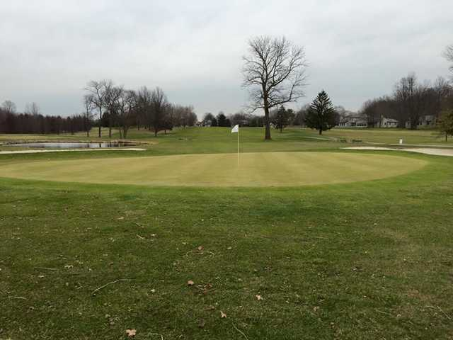 A view of a green at Pebble Brook Golf Club