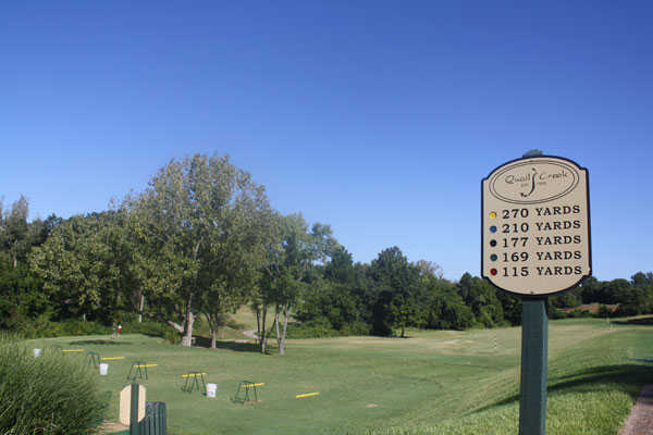 A view of the driving range tees at Quail Creek Golf Course