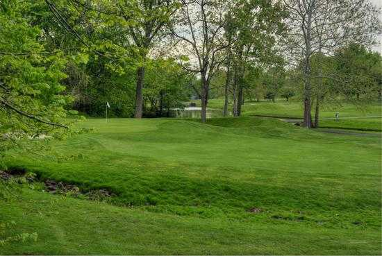 A view of green #11 at Dye's Walk Golf Course